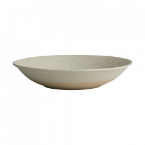 Bol pentru salata bej nisipiu din ceramica 34 cm Grainy Nordal
