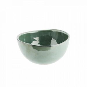 Bol verde din ceramica 13,5 cm Sea Green Madam Stoltz