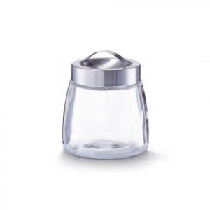 Borcan cu capac transparent/argintiu din sticla si inox 900 ml Lia Zeller