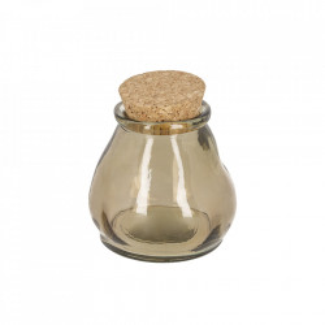 Borcan maro din sticla reciclata si pluta 400 ml Rohan Kave Home