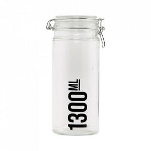 Borcan transparent din sticla 1,3 L Jar House Doctor