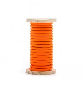 Cablu portocaliu din PVC si bumbac 5 m Philo Orange Seletti