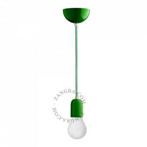 Cablu verde/alb din PVC si textil 1 m Marshall Zig Zag Zangra