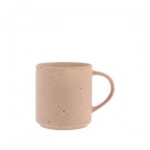 Cana cu toarta pentru cafea din ceramica 7,4x8 cm Specked Nude HK Living