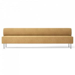 Canapea galbena din textil si otel 280 cm Eave Moss Menu
