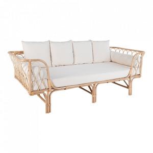 Canapea maro din ratan 200 cm Montella House Nordic