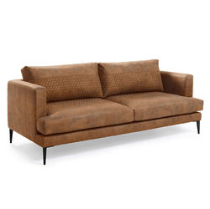 Canapea matlasata maro pentru 3 persoane Tanya Kave Home