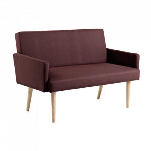 Canapea rosie din poliester pentru 2 persoane Reden Custom Form