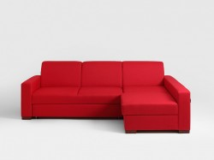 Canapea rosie din poliester pentru 3 persoane Lozier Custom Form
