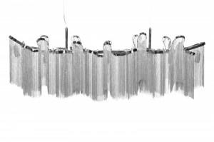 Candelabru argintiu din metal cu 7 becuri Elegance Invicta Interior