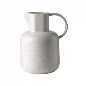 Carafa alba din ceramica 15x22 cm Forma Bolia