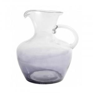 Carafa transparenta/gri fum din sticla 22x26 cm Mexican Bubble Nordal