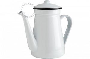 Ceainic alb din email 1 L Herbal Eve White Zangra