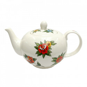 Ceainic alb/multicolor din ceramica 1,1 L Tattoo Pols Potten