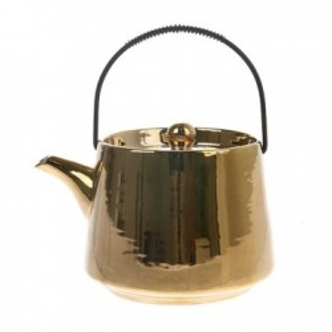 Ceainic auriu din ceramica Bold and Basic Gold HK Living