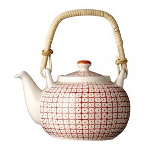 Ceainic ceramic rosu 1L Carla Bloomingville