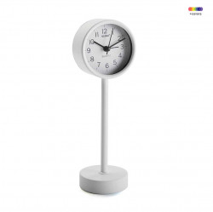 Ceas de masa alb din metal 7,6x22,5 cm White Alarm Clock Versa Home
