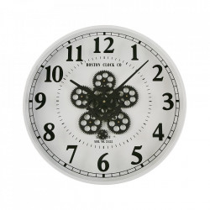 Ceas de perete alb/negru rotund din MDF si metal 50 cm Shane Versa Home