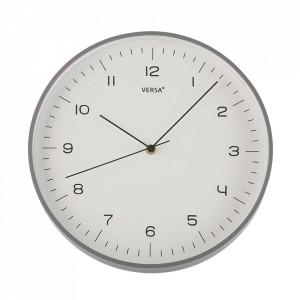 Ceas de perete rotund gri din plastic 31 cm Jovi Versa Home