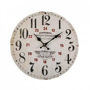 Ceas de perete rotund multicolor din lemn 30 cm Fabrique Versa Home