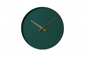 Ceas de perete rotund verde din otel 40 cm Color Circle Green Bolia
