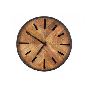 Ceas perete rotund maro/negru 40 cm Lexi LifeStyle Home Collection