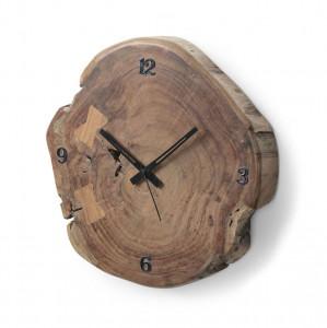 Ceas perete rotund maro/negru din lemn 35 cm Asiriq Kave Home