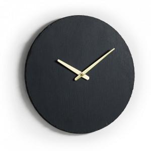 Ceas rotund negru din ardezie 40 cm Walso La Forma
