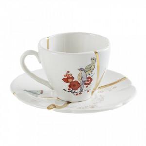Ceasca de cafea cu farfurioara din portelan 5x6,5 cm Kintsugi V3 Seletti