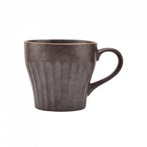 Ceasca maro din ceramica 8,6x9,1 cm Berica Handle House Doctor