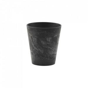Ceasca neagra din polirasina 8x9 cm Serveur House Doctor