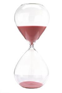 Clepsidra din sticla cu nisip roz Ball L Pols Potten