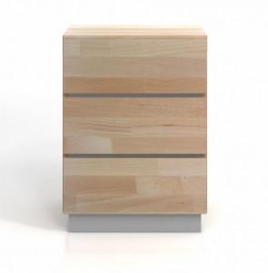 Comoda maro/gri din lemn 60 cm Finn Natural Grey Skandica
