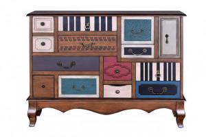 Comoda multicolora din lemn 108 cm Vinka Giner y Colomer