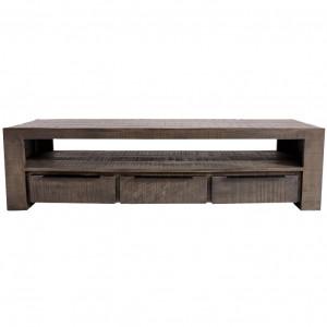 Comoda TV gri din lemn de mango 170 cm Iron Craft Invicta Interior