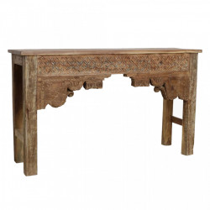Consola maro din lemn 139 cm Odisha Raw Materials