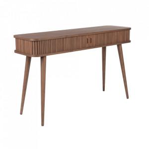 Consola maro din MDF si lemn de nut 120 cm Barbier Walnut Zuiver