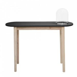 Consola maro/neagra din lemn si MDF 110 cm Leora Bloomingville