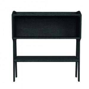 Consola neagra din lemn de stejar 120 cm Konij Zago