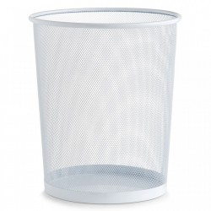 Cos de gunoi alb din metal 29,5x35 cm pentru birou Mesh Paper Trash Big Zeller