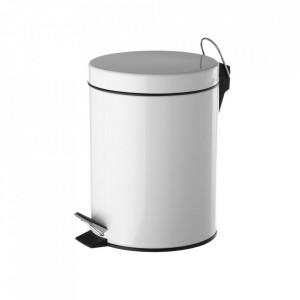 Cos de gunoi alb din metal 3 L Eddie Unimasa