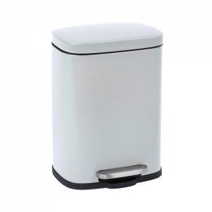 Cos de gunoi alb din otel 5 L Leno Wenko