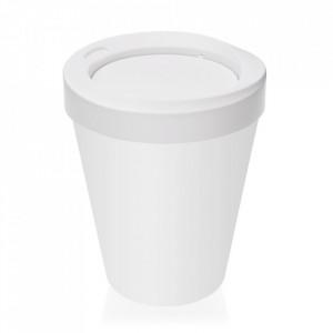 Cos de gunoi alb din polipropilena 25x33 cm Dustbin Versa Home