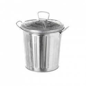 Cos de gunoi argintiu din otel 7 L Raphy Unimasa