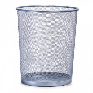 Cos de gunoi gri din metal 29,5x35 cm pentru birou Mesh Paper Trash Big Gray Zeller