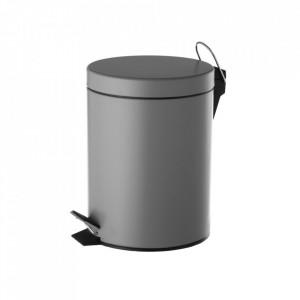 Cos de gunoi gri din metal 3 L Eddie Unimasa