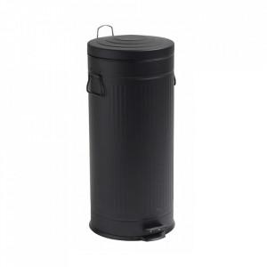 Cos de gunoi negru din metal 30 L Alan Nordal