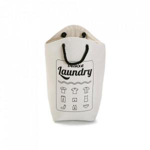 Cos de rufe alb/negru din textil 52x60 cm Deluxe Laundry White Versa Home