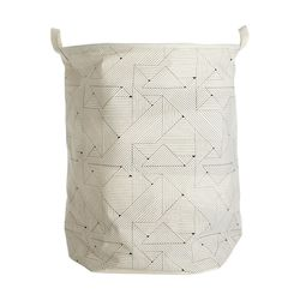 Cos pentru rufe bumbac/poliester 40x50 cm alb/negru Triangular House Doctor