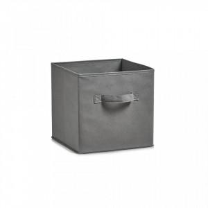 Cos pliabil gri din fleece Storage Box Foldable Handle Zeller